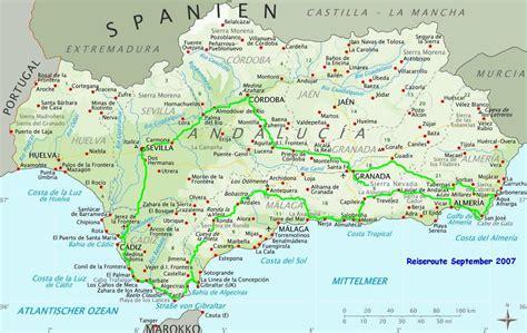 andalusien landkarte