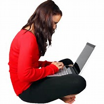 Image result for pictures of person sitting with laptop