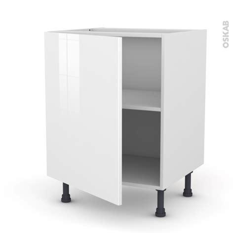 meuble de cuisine sous 233 vier stecia blanc 1 porte l60 x h70 x p58 cm oskab