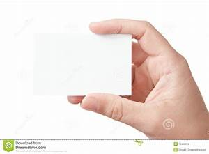 Hand holding blank business card stock photo image 16450010 for Hand holding business card