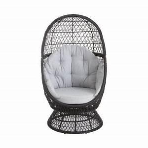 Fauteuil En Oeuf : fauteuil oeuf de jardin effet rotin anya castorama ~ Farleysfitness.com Idées de Décoration