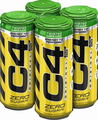 Drink Energy Pre Workout C4 Carbonated Cans