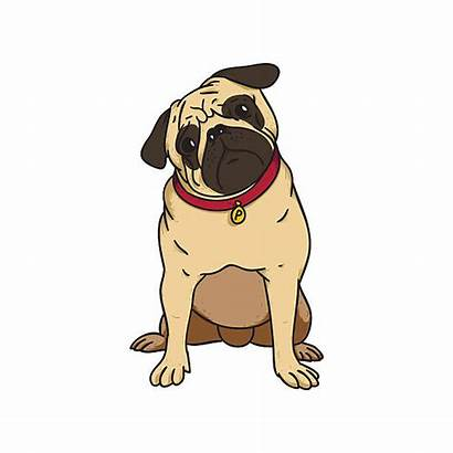 Pug Puppy Illustration Clipart Vector Pugs Abstract