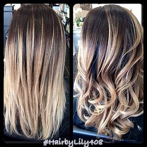 Balayage Ombré Blond : ombr with balayage ash blond ends new hair color ~ Carolinahurricanesstore.com Idées de Décoration