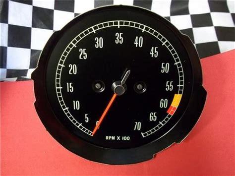 corvette tachometer  rpm redline
