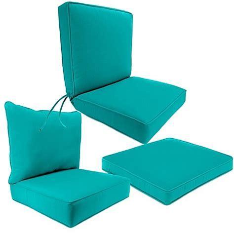 Outdoor Seat Cushion Collection in Sunbrella® Canvas Aruba