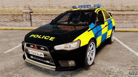 mitsubishi lancer evolution  uk police els  gta
