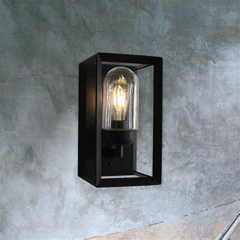 modern black outside wall lights modern black outdoor wall light cl 36280 e2 contract