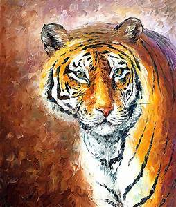 Tiger painting Lonley Tiger tiger oil painting tiger wall