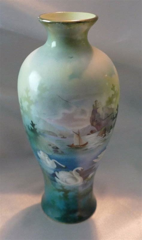 Rs Prussia Vase by Beautiful Antique Rs Prussia Porcelain China Swan Vase Ebay