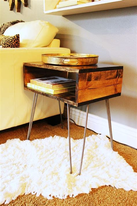 hairpin desk legs diy hairpin leg side table