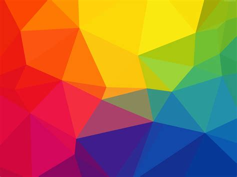 rainbow triangles background vector psdgraphics