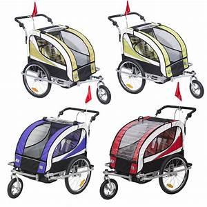 Kinderwagen 2 Kinder : 2 in 1 kinder fahrradanh nger kinderwagen f r 2 kinder anh nger ~ Watch28wear.com Haus und Dekorationen