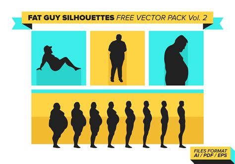 foto de Fat Guy Silhouettes Free Vector Pack Vol 2 Download