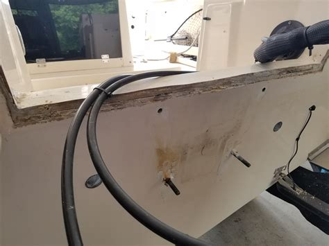 Boat Transom Replacement Cost by Grady White Transom Cap Replacement The Hull