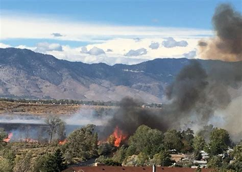 acre frontage fire south  gardnerville   reopened ktvn channel  reno tahoe