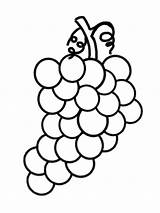 Grapes Coloring Pages Fruit Grape Fruits Cartoon Drawing Printable Vine Clipart Drawings Purple Colouring Vegetables Thingkid sketch template