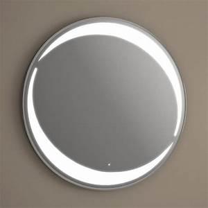Miroir Rond Salle De Bain : miroir lumineux led salle de bain rond antibu e 80 cm ~ Nature-et-papiers.com Idées de Décoration