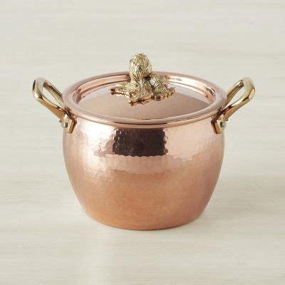 ruffoni historia copper artichoke handle stock pots