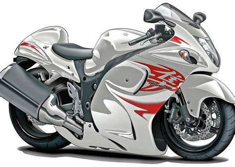 Suzuki Hayabusa White-red Bike Greeting Card For Sale By