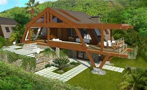 Modern Wood House Plans - Tradition In Contemporary Lines