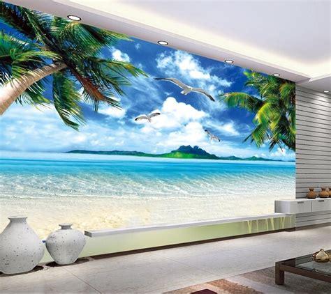 custom wall mural landscape hawaii beach murals