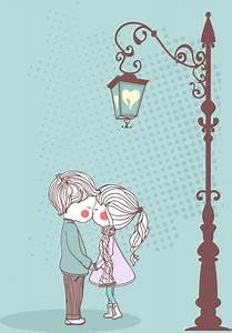 Vector illustration cute couple Free vector in