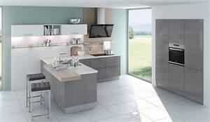 Küche Grau Holz : trend einbauk che lizzola basaltgrau weiss hochglanz lack ~ Michelbontemps.com Haus und Dekorationen