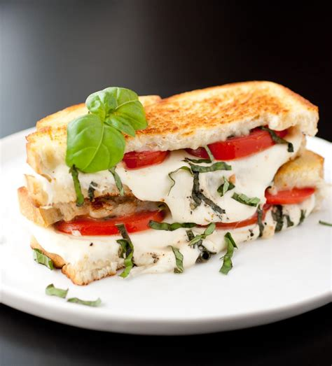 caprese sandwich caprese grilled cheese sandwich recipe dishmaps