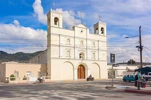 Facade Of The Catholic Church In San Luis Jilotepeque  Guatemala Stock Photo