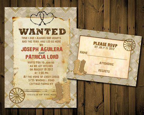Western Wedding Invitation ~ Wedding Invitation Collection