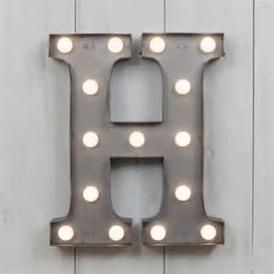Modern Dining Room Sets Uk by H Vegas Metal 11 Quot Mini Led Letter Lights Marquee Letters