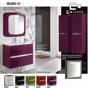 Meuble de salle de bain coycama serie ikaro 80 cm for Coycama meuble salle de bain