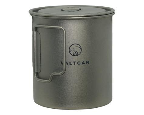 buy valtcan titanium ml pot designed  backpacking camping open fire bushcraft mug cup
