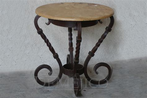 Spanish Iron End Table, Mesa Lateral Retorcida