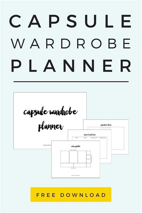 Capsule Wardrobe Planner by 17 Best Ideas About Personal Style On Classic