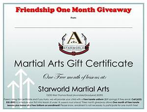 Download Martial Arts Gift Certificate Template For Free