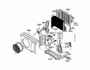 Outdoor Unit Diagram  U0026 Parts List For Model La090cp Lg