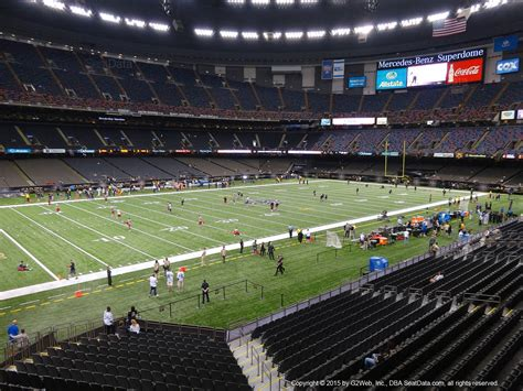 The domed stadium was conceived by local sports. Seat View from Section 273 at the Mercedes-Benz Superdome | New Orleans Saints