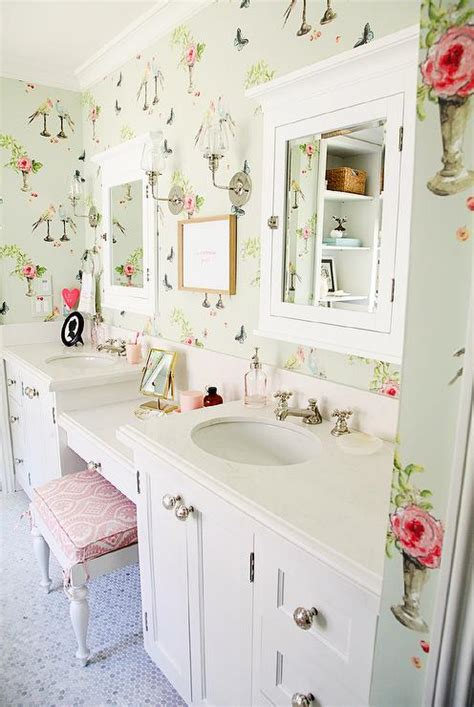pink shabby chic kids room transitional girls room