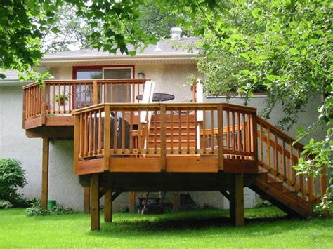 backyard wood deck deck building what will be your return on investment