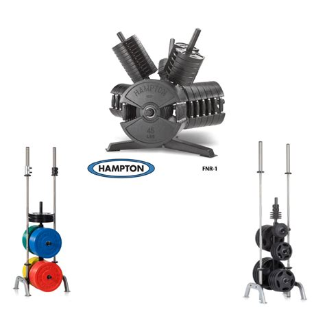 hampton fitness plate racks olympic weight storage elite exercise