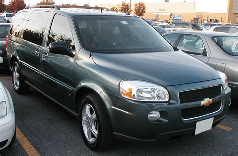Chevrolet Uplander 2006 by Pin 2006 Chevrolet Uplander Cargo On