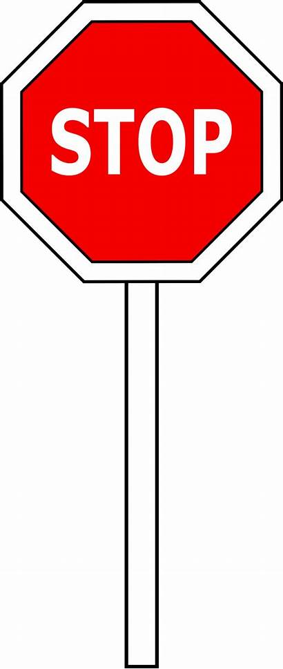 Stop Sign Clipart Clip Vector Cliparts Signs