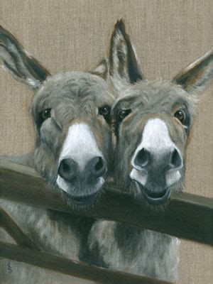 donkeys giclee mounted print