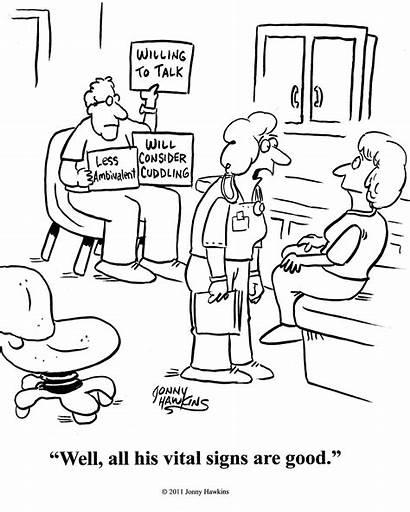 Heart Health Vital Signs Cartoon Humor Monitor