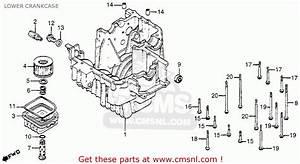 Honda Cm400t 1980 Usa Lower Crankcase