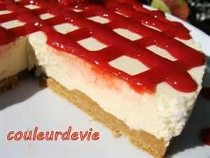 cheesecake vanille au coulis de fraises sans cuisson couleurdevie