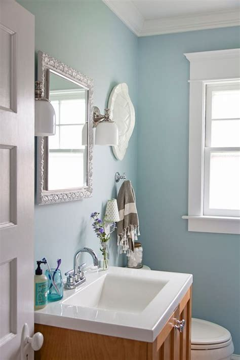 blue bathroom benjamin gossamer blue wall paint and benjamin decorator s white