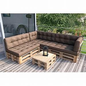 Palettenkissen palettenmobel ecksofa couch sitzecke inkl for Katzennetz balkon mit garden furniture usa